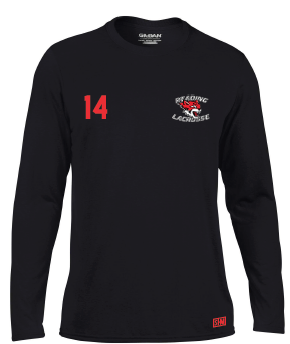 Reading Wildcats Black Womens Long Sleeved Performance Tee