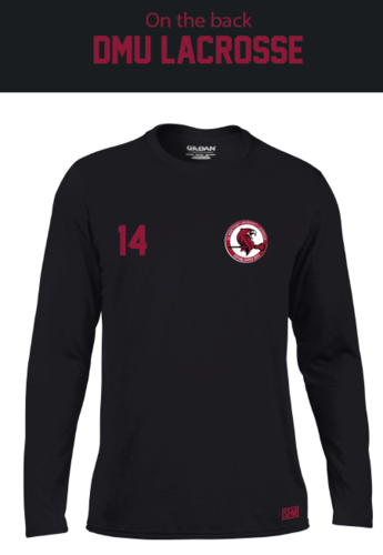 DMU Lacrosse Mens Black Long Sleeved Performance Tee