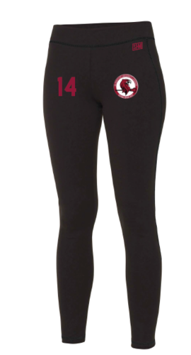 DMU Lacrosse Black Womens Leggings
