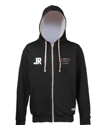 DMU Swim & Tri Black Unisex Zip Up Hoody