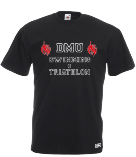 DMU Tri & Swim Black Mens Cotton Tee