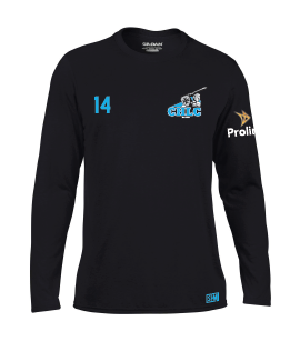 Cheadle Hulme Black Childrens Long Sleeved Performance Tee  (All Print)