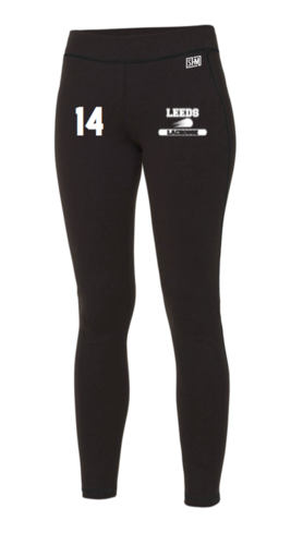Leeds Beckett Lacrosse Black Womens Leggings