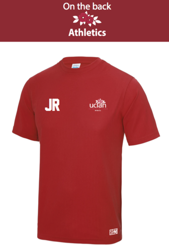 Uclan Athletics Red Mens Performance Tee