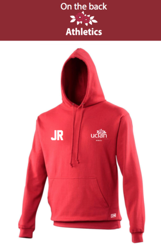 Uclan Athletics Red Womens Hoody