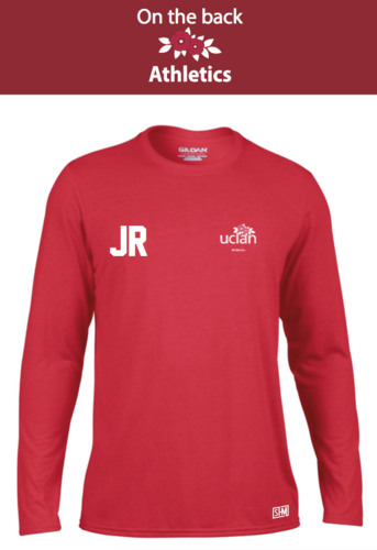 Uclan Athletics Red Mens Long Sleeved Performance Tee