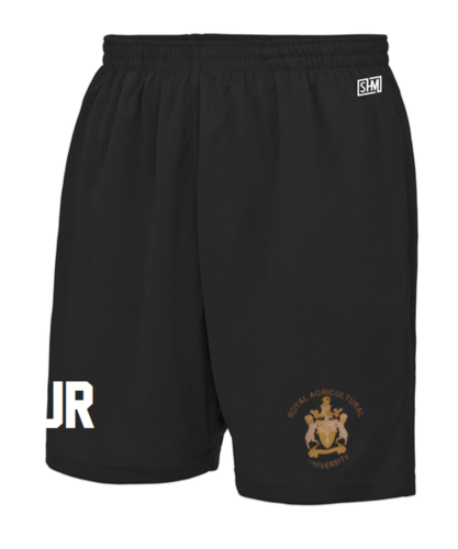 Royal Agricultural Lacrosse Black Mens Shorts (Lacrosse Under Logo)