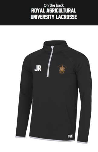 Royal Agricultural Lacrosse Black Mens Performance Sweatshirt (Lacrosse Under Logo)