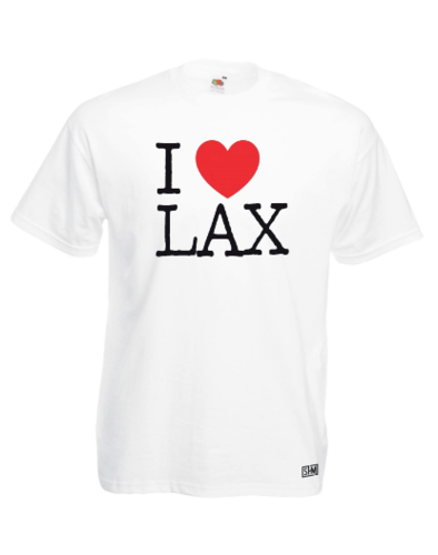 I Love Lax Unisex White Tee