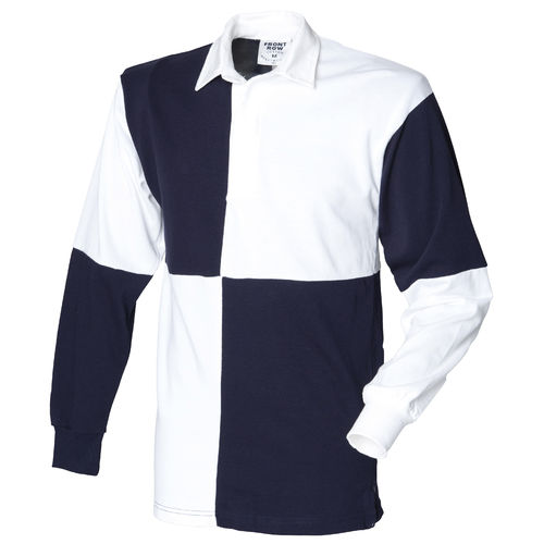 Quartered Long Sleeved Polo Shirt