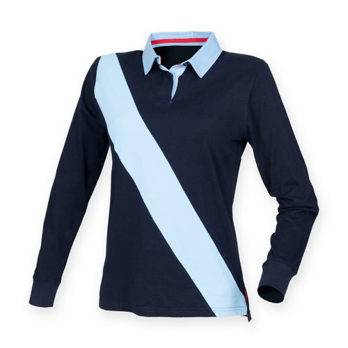 Single Stripe Long Sleeved Polo Shirt