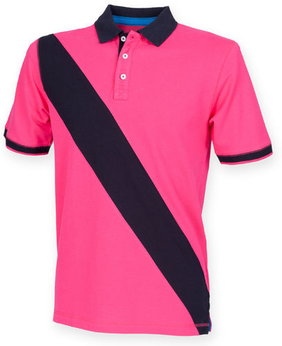 Single Stripe Short Sleeve Polo Shirt