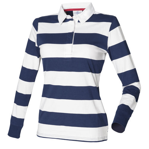 Stripe Long Sleeved Polo Shirt