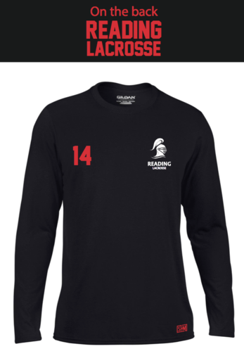 Reading Lacrosse Black Mens Long Sleeved Performance Tee (Not Mixed)