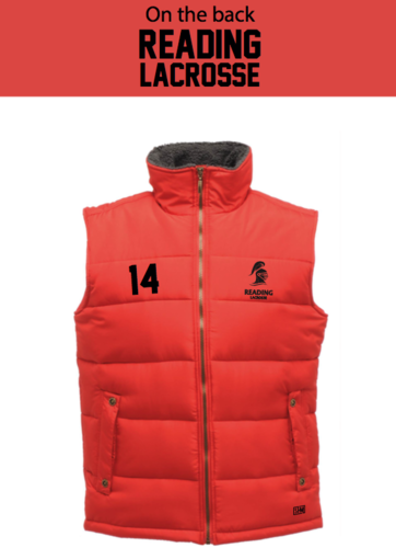 Reading Lacrosse Red Mens Body Warmer (Not Mixed)