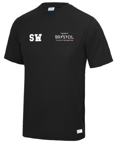 Bristol T & G Black Womens Performance Tee