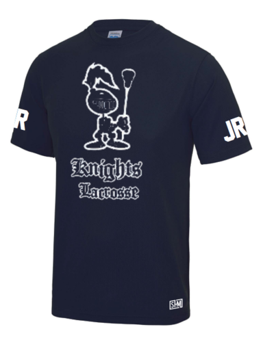 Knights Lacrosse Mens Navy Performance Tee