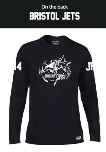 Bristol Jets Black Womens Long Sleeved Performance Tee