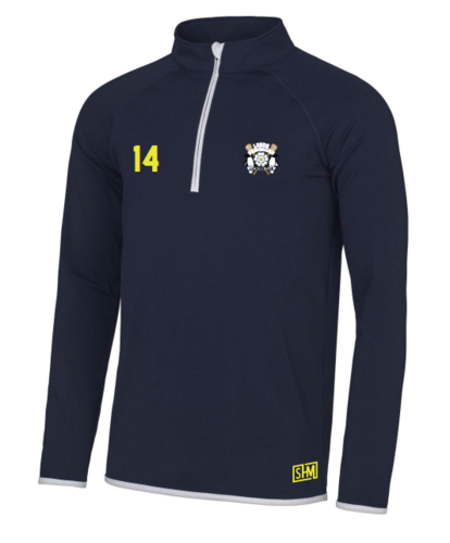 Leeds Lacrosse Womens Navy & White Performance Sweatshirt