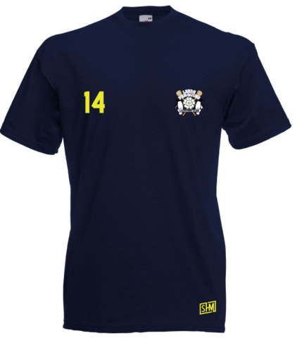 Leeds Lacrosse Womens Navy Cotton Tee