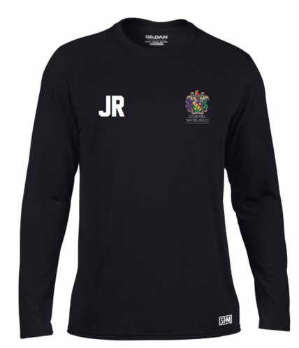 Edge Hill Water Polo Black Mens Long Sleeved Performance Tee