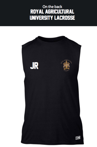 Royal Agricultural Lacrosse Black Unisex Performance Vest (Lacrosse Under Logo)