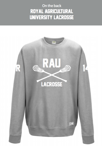 Royal Agricultural Lacrosse Heather Grey Unisex Sweatshirt (Big Logo)