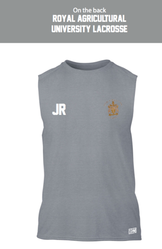 Royal Agricultural Lacrosse Grey Unisex Performance Vest (Lacrosse Under Logo)