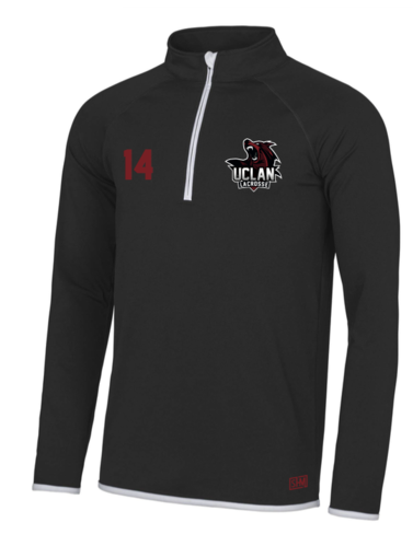 UClan Lacrosse Black Mens Performance Sweatshirt