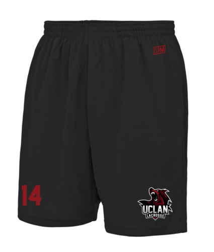 UClan Lacrosse Black Mens Shorts