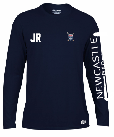 Newcastle Polo Navy Mens Long Sleeved Performance Tee