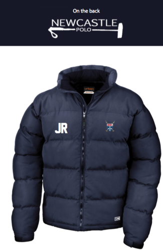 Newcastle Polo Navy Mens Puffa (Newcastle Polo Logo On The Back, Not On Arm)