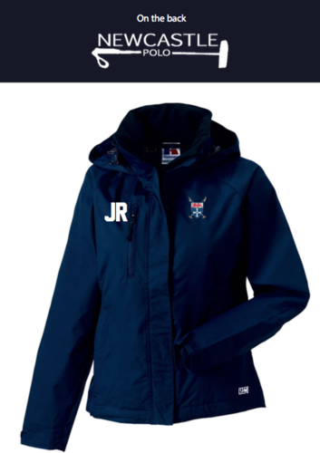 Newcastle Polo Navy Womens Hydroplus Hooded Softshell (Newcastle Polo Logo On The Back, Not On Arm)