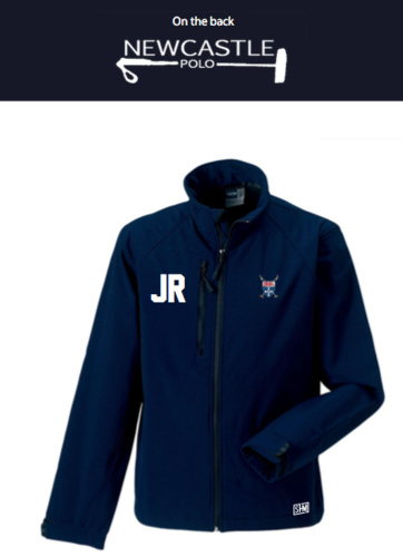 Newcastle Polo Navy Womens Softshell Jacket (Newcastle Polo Logo On The Back, Not On Arm)