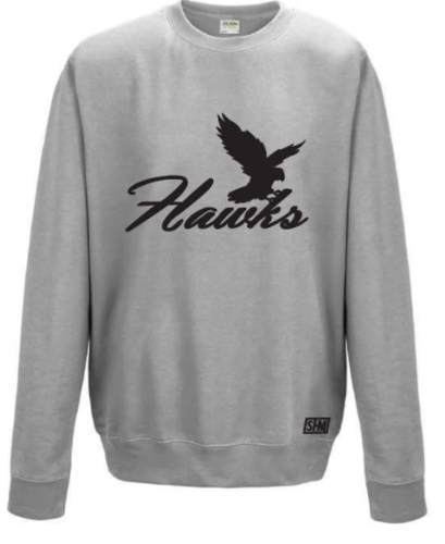 Bath University Touch Rugby Heather Grey Unisex Sweatshirt (All Print)