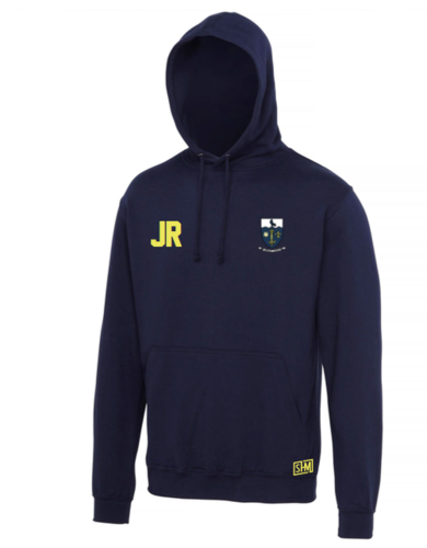 Hull University Lacrosse Mens Navy Hoody (Team Name On Back)