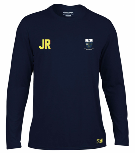 Hull Univeristy Lacrosse Navy Womens Long Sleeved Performance Tee (Team Name On Back)