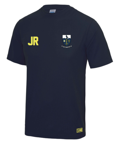 Hull University Lacrosse Navy Mens Performance Tee (Team Name On Back)