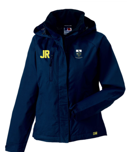 Hull University Lacrosse Navy Womens Hydroplus Hooded Softshell (Team Name On Back)