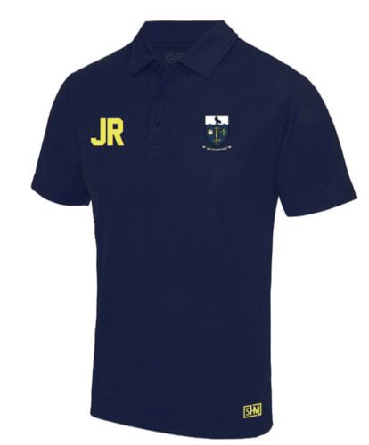 Hull University Lacrosse Navy Mens Performance Polo (Team Name On Back)