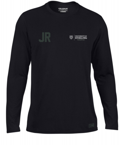 Stirling Netball Black Womens Long Sleeved Performance Tee (Same Set Up As Performance Tee)