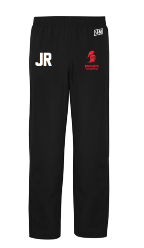 Reading Tramp Black Womens Trackies (Red Text)