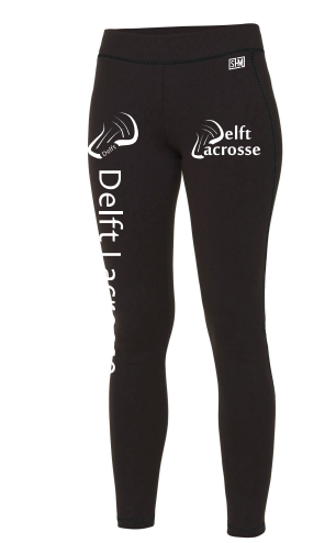 Delft Lacrosse Black Womens Leggings