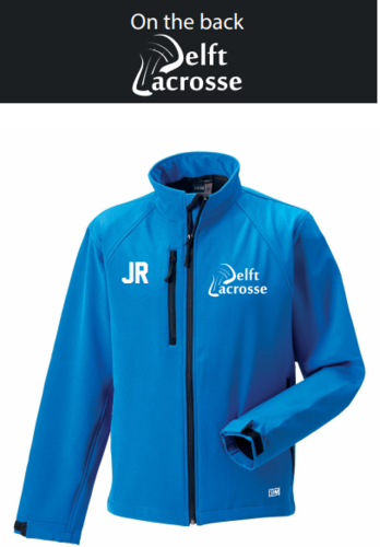 Delft Lacrosse Blue Mens Softshell Jacket