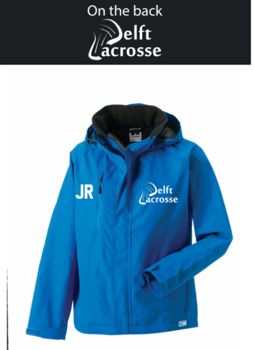 Delft Lacrosse Blue Mens Hydroplus Hooded Jacket