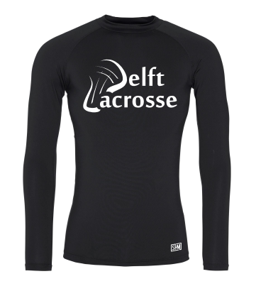 Delft Lacrosse Black Mens Baselayer