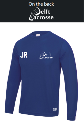 Delft Lacrosse Royal Blue Mens Long Sleeved Performance Tee