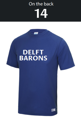 Delft Lacrosse Royal Blue Mens Barons Performance Tee