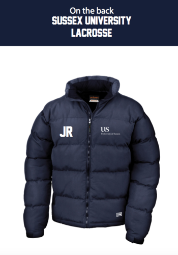Sussex University Lacrosse Navy Puffa