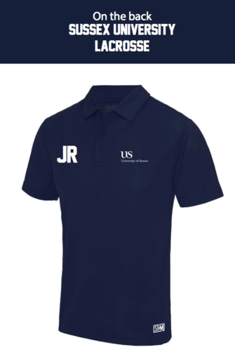 Sussex University Lacrosse Navy Performance Polo